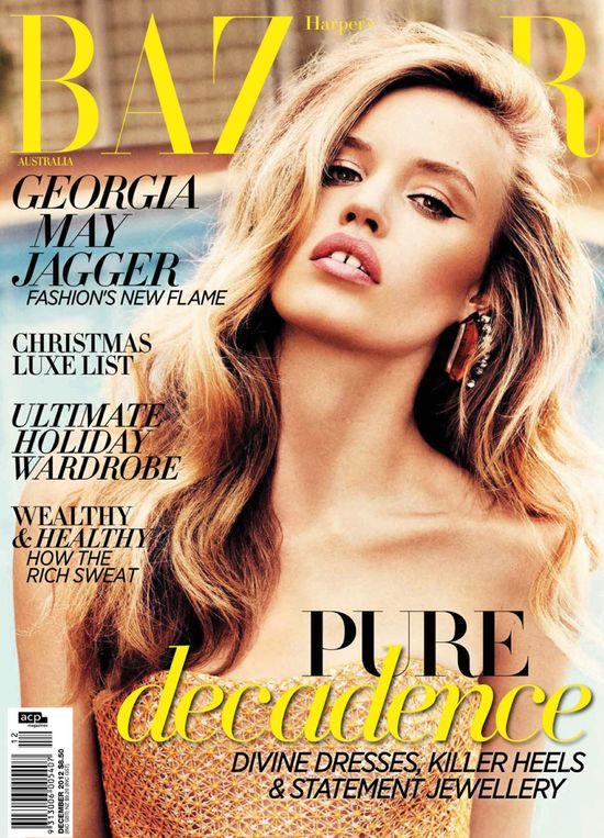 Seksowna Georgia May Jagger w Harper's Bazaar