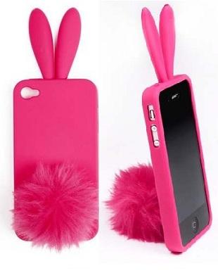 Bunny Glitter - zabawny pokrowiec na telefon