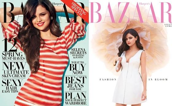 Selena Gomez na  kwietniowej okładce Harper's Bazaar
