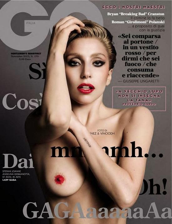 Naga Lady Gaga na okładce magazynu GQ
