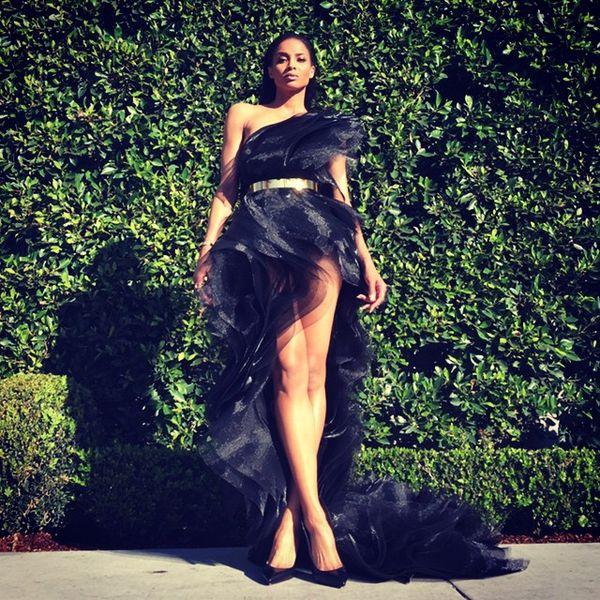 Zoom na bajeczną kreację Ciary z rozdania nagród Grammy