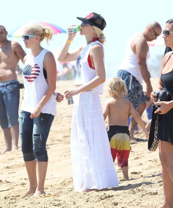 Gwen Stefani na plaży