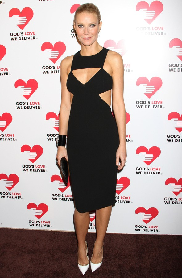 Gwyneth Paltrow w geometrycznej sukience Michel Kors