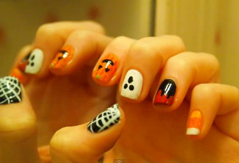 Halloweenowy manicure (VIDEO)