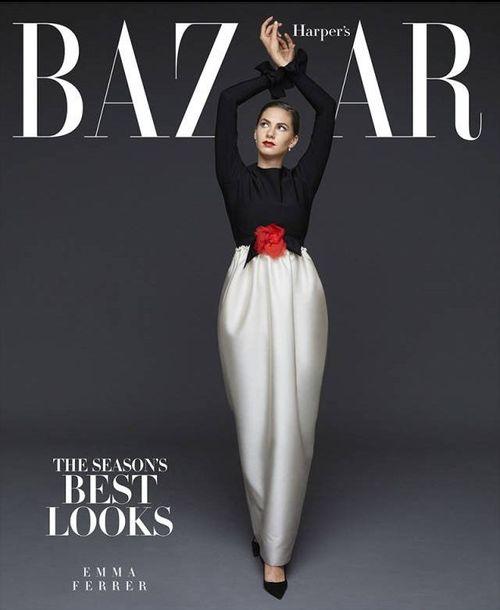 Wnuczka Audrey Hepburn debiutuje na okładce Harper's Bazaar!