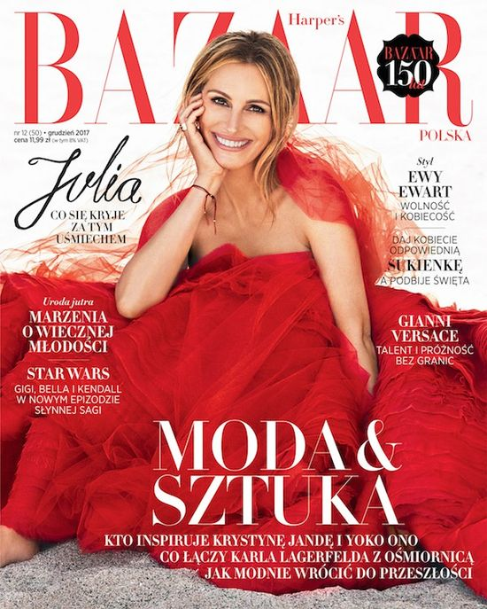 Harper's Bazaar December 2017 Julia Roberts Cover