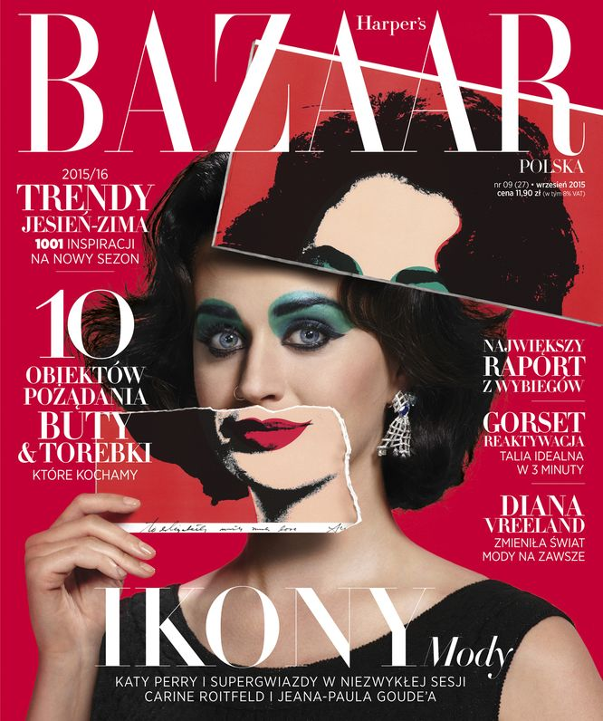 Katy Perry niczym Elizabeth Taylor dla Harper's Bazaar