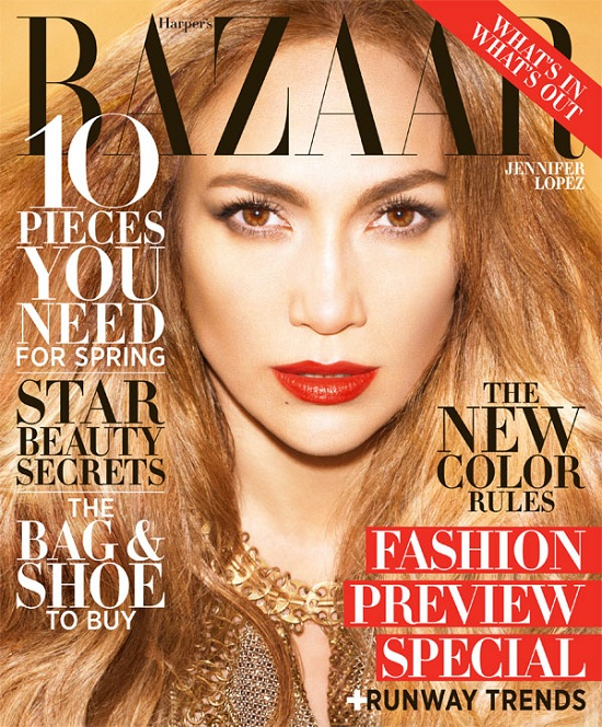 Jennifer Lopez na dwóch okładkach Harper's Baazar Luty