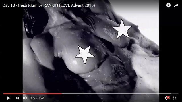 Tak... W sesji do kalendarza LOVE Heidi Klum jest CALKIEM NAGA (VIDEO)