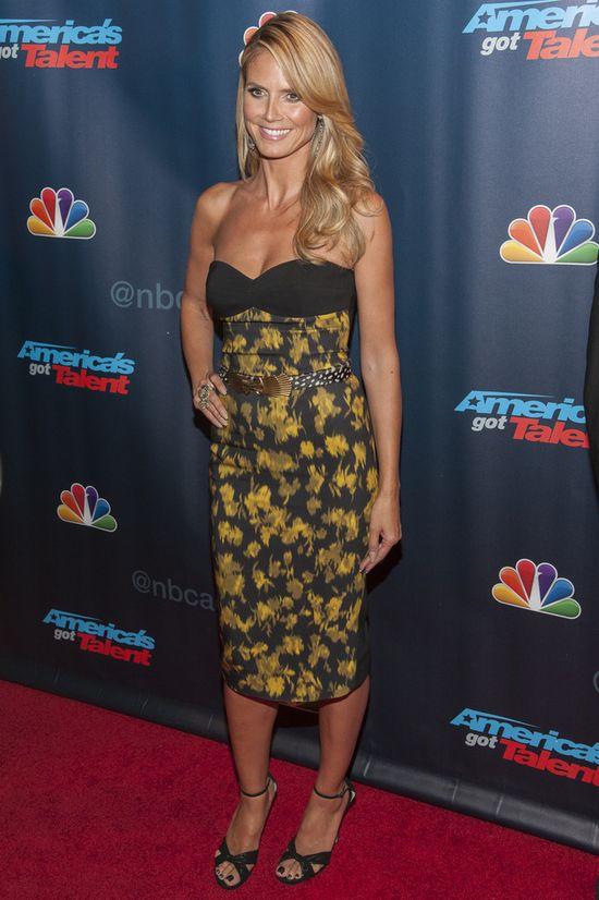 Heidi Klum w sukience Michaela Korsa (FOTO)