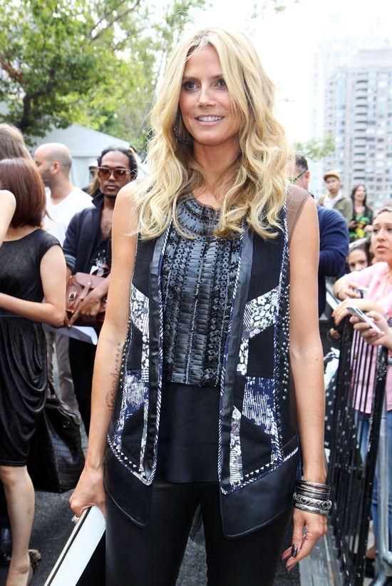 Heidi Klum w skórzanych spodniach (FOTO)