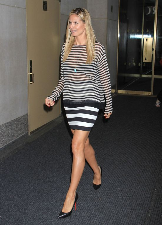 Heidi Klum cała w paskach