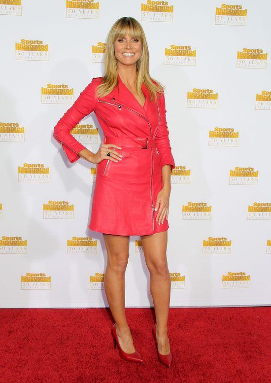 Heidi Klum wyróżniała się na urodzinach Sports Illustrated
