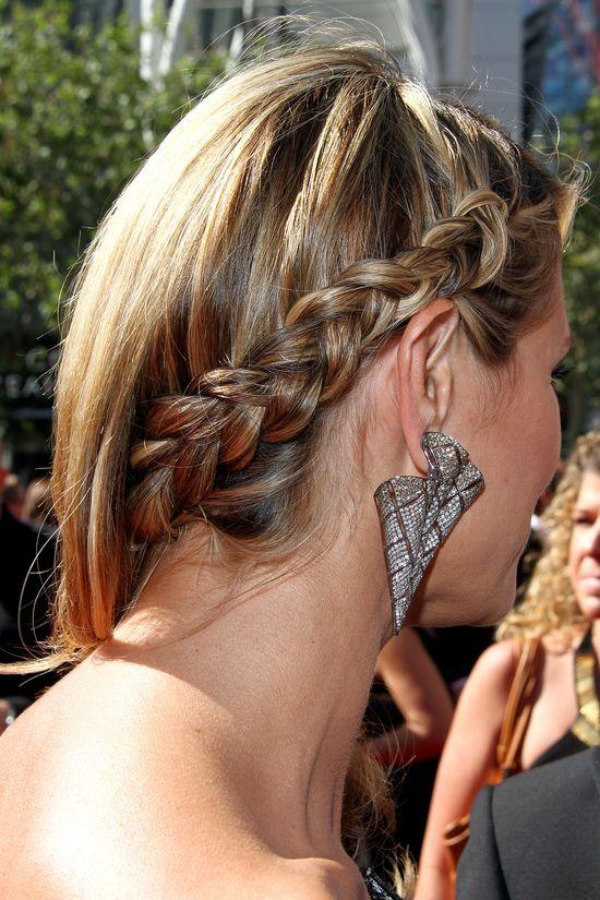 Heidi Klum w srebrnej sukience