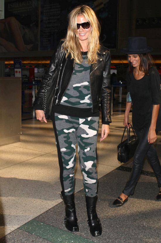 Heidi Klum w zestawie moro (FOTO)
