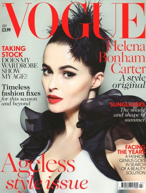 Helena Bonham Carter na okładce Vogue UK