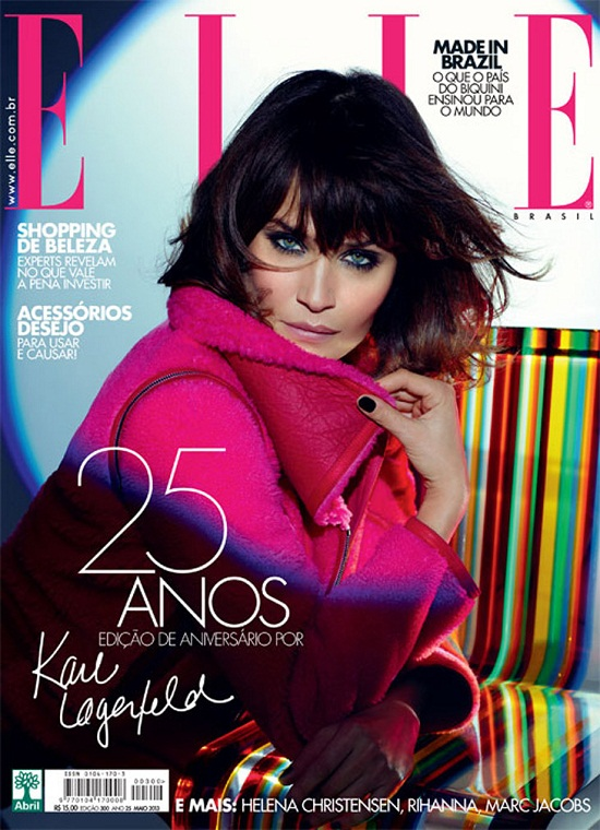 Helena Christensen na okładce majowego Elle Brazil