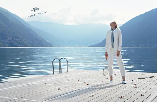 Iselin Steiro w kampanii Hermes