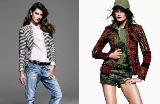 Isabeli Fontana w wiosennym lookbooku H&M