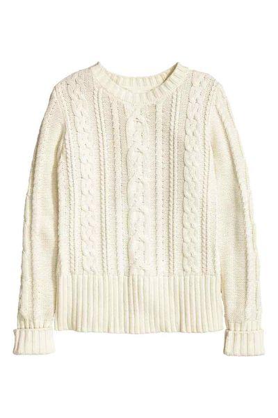 Białe swetr