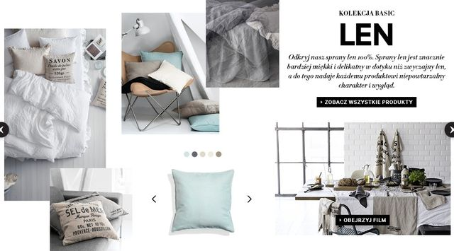 H&M Home - Kolekcja basic: Len (FOTO)