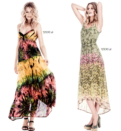 H&M maxi sukienki w różnym stylu