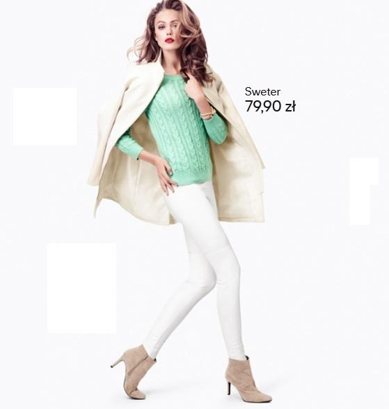 Zimowe pastele w H&M na sezon jesień-zima  2012/2013