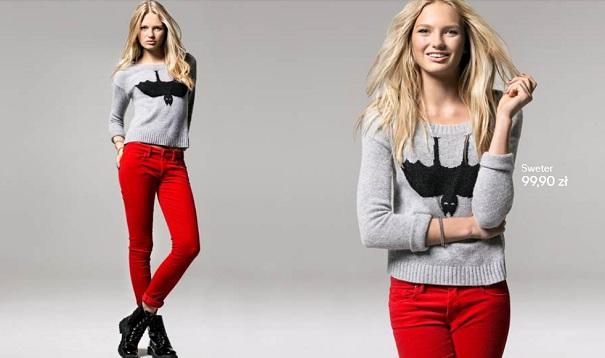 H&M jesień 2012  - sztruks i dzianina