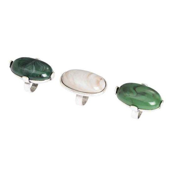 Duże pierścionki z kamieniami - Jesienny przegląd