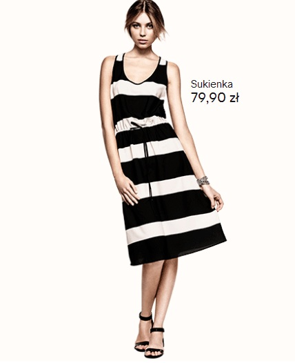 Czarno-biały look od H&M