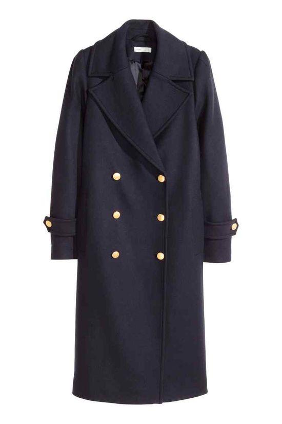 płaszcz w stylu militarnym zara