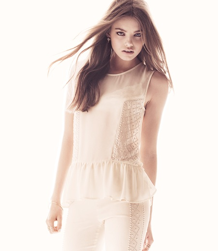 H&M white divided lato 2013