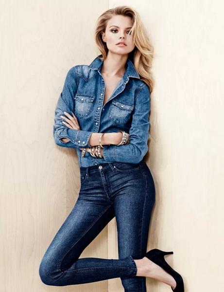 Magdalena Frąckowiak w kampanii H&M Denim jesień 2013