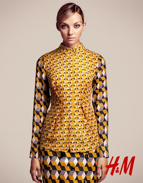 Filoletowo-żółty lookbook od H&M
