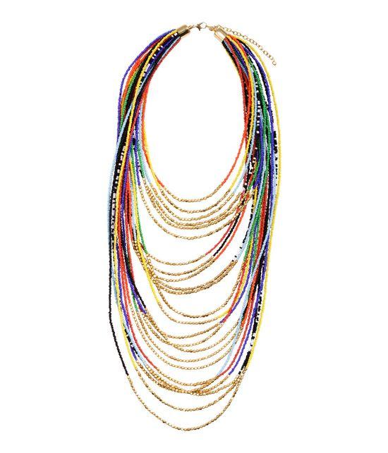 Kolorowe naszyjniki - przegląd sieciówek (FOTO)