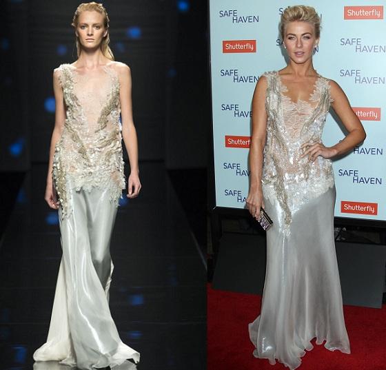 Julianne Hough w srebrnej sukni Alberta Ferretti