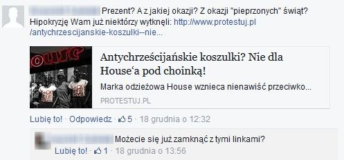Internauci bojkotują markę House za antyświąteczną kampanię!