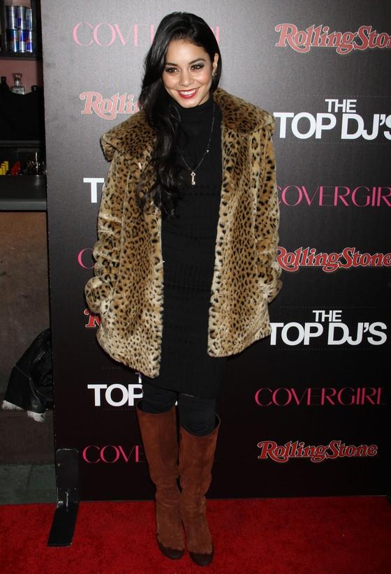 Vanessa Hudgens w panterkowym futrze