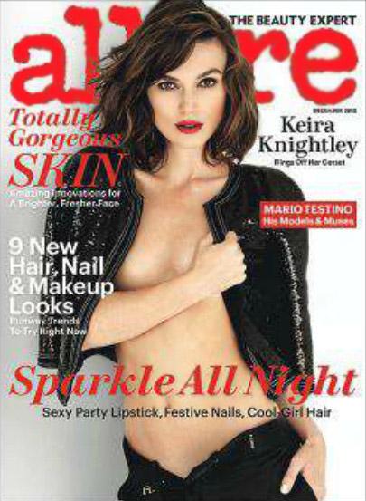 Keira Knightley topless na okładce Allure (FOTO)