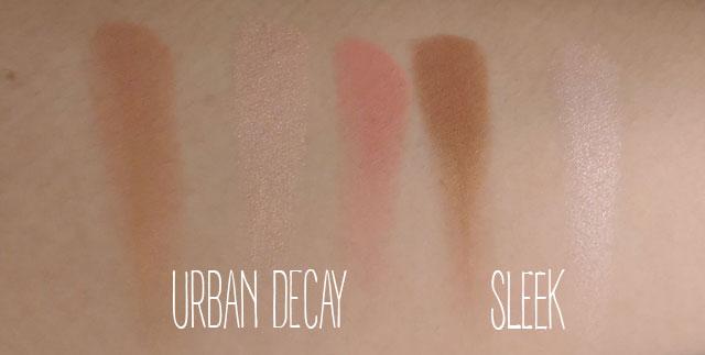 Zeberka testuje: konturowanie twarzy - Urban Decay vs Sleek