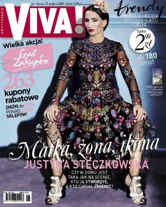 Justyna Steczkowska na okładce w sukni za 34 100 zł! (FOTO)