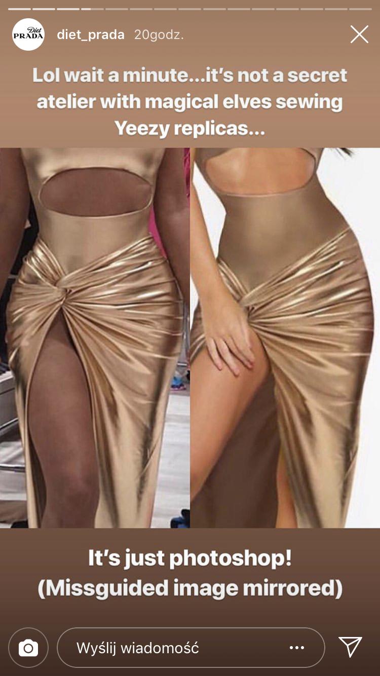 Spór o sukienkę Kim, którą zaprojektował dla niej Kanye. Wiemy, o co chodzi!