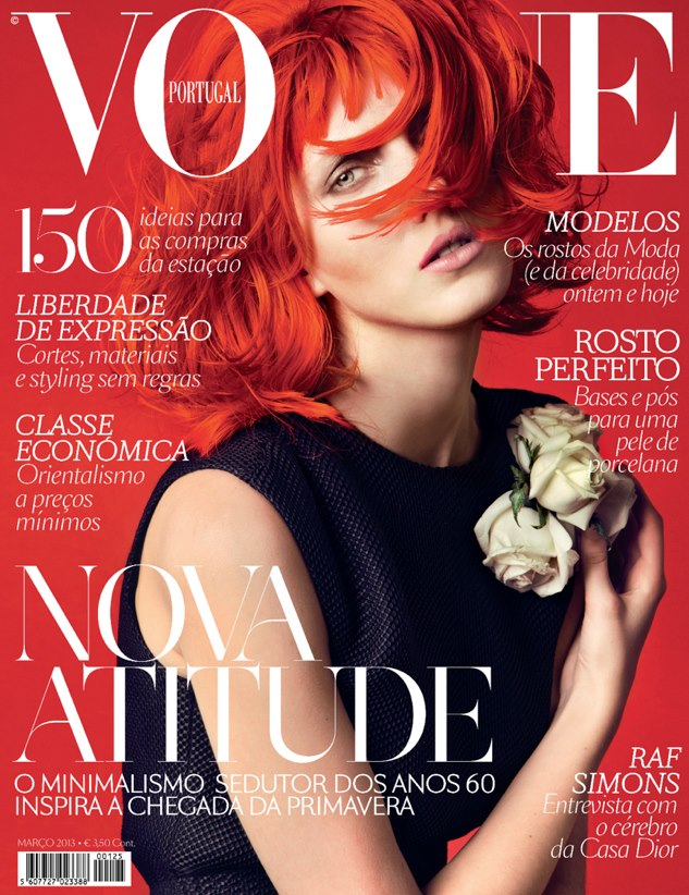 Iris Egbers na marcowej okładce Vogue Portugal