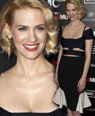 January Jones w sukience Rolanda Moureta (FOTO)
