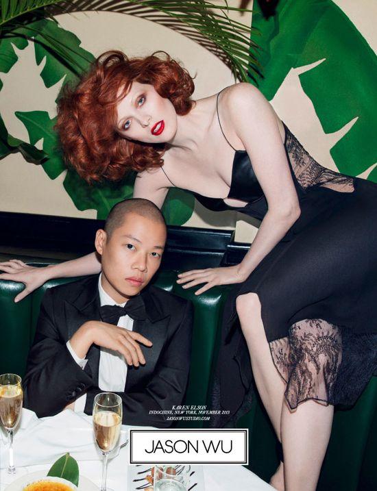 Karen Elson w kampanii Jasona Wu