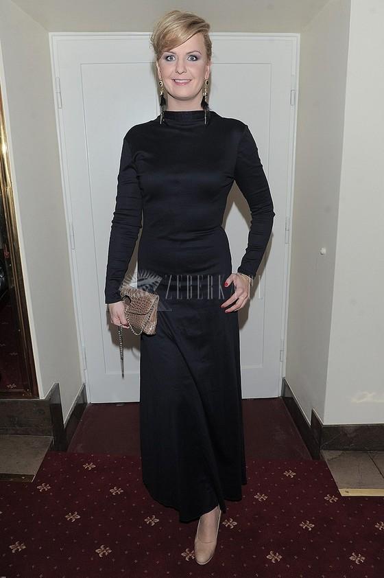 Otylia Jędrzejczyk w czarnej sukni na Gali Sportu