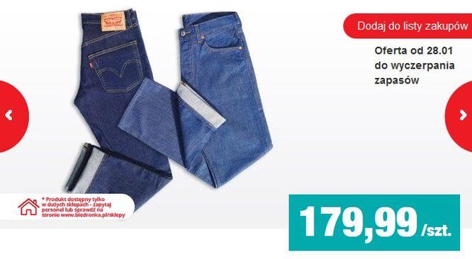 Kochacie spodnie Levi's? Niedługo kupicie je w... Biedronce