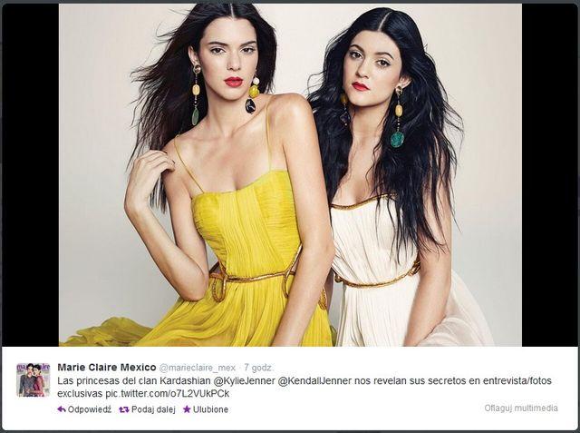 Siostry Jenner zdobyły marcową okładkę Marie Claire