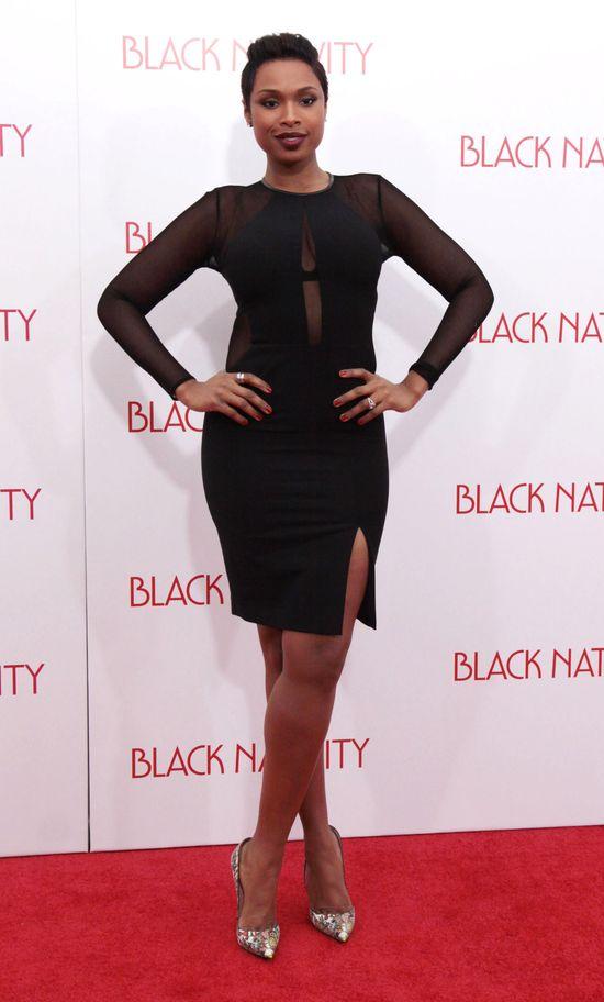 Jennifer Hudson w czarnej sukience