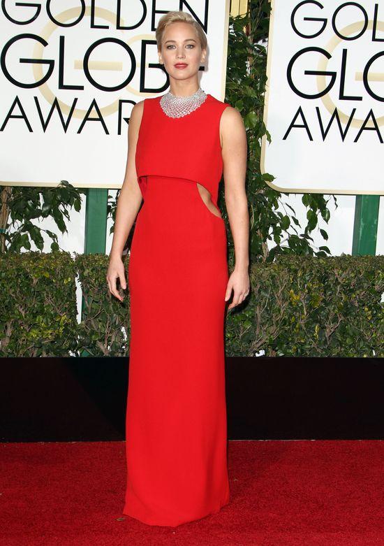 Kreacja Jennifer Lawrence ze Złotych Globów podbija rankingi